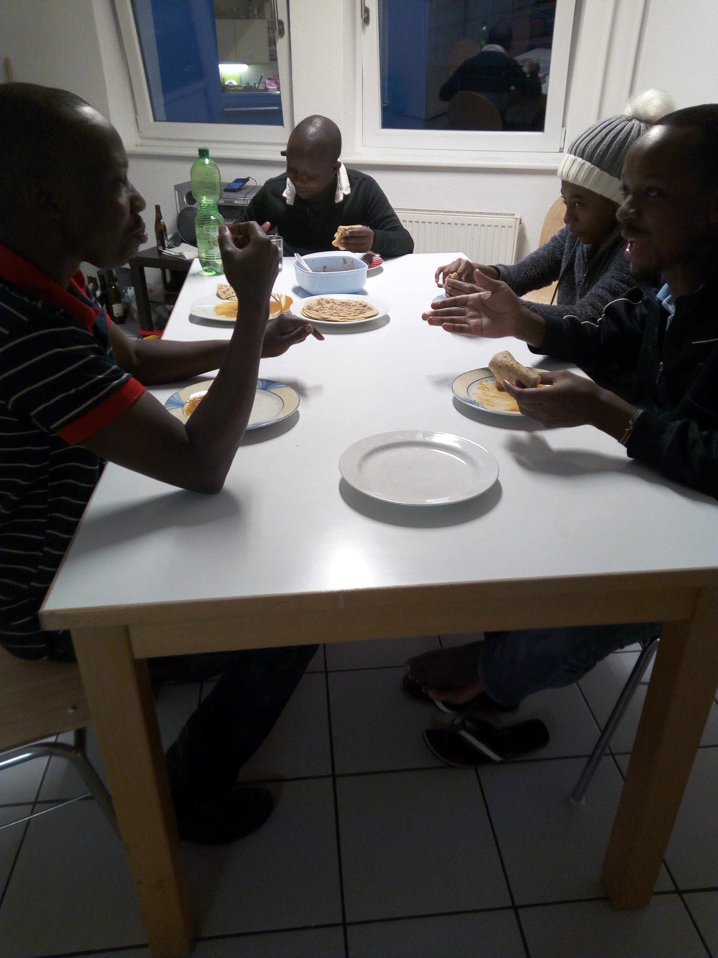 sharing some  favourite food with my African friends